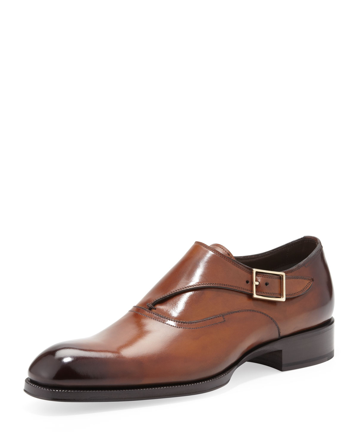 Tom ford Edward Singlemonk Shoe in Brown for Men