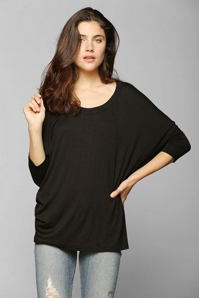Urban Outfitters Mouchette Oversized Tunic Tee In Black Lyst