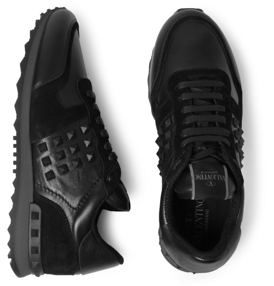 mens black valentino sneakers \u003e Up to
