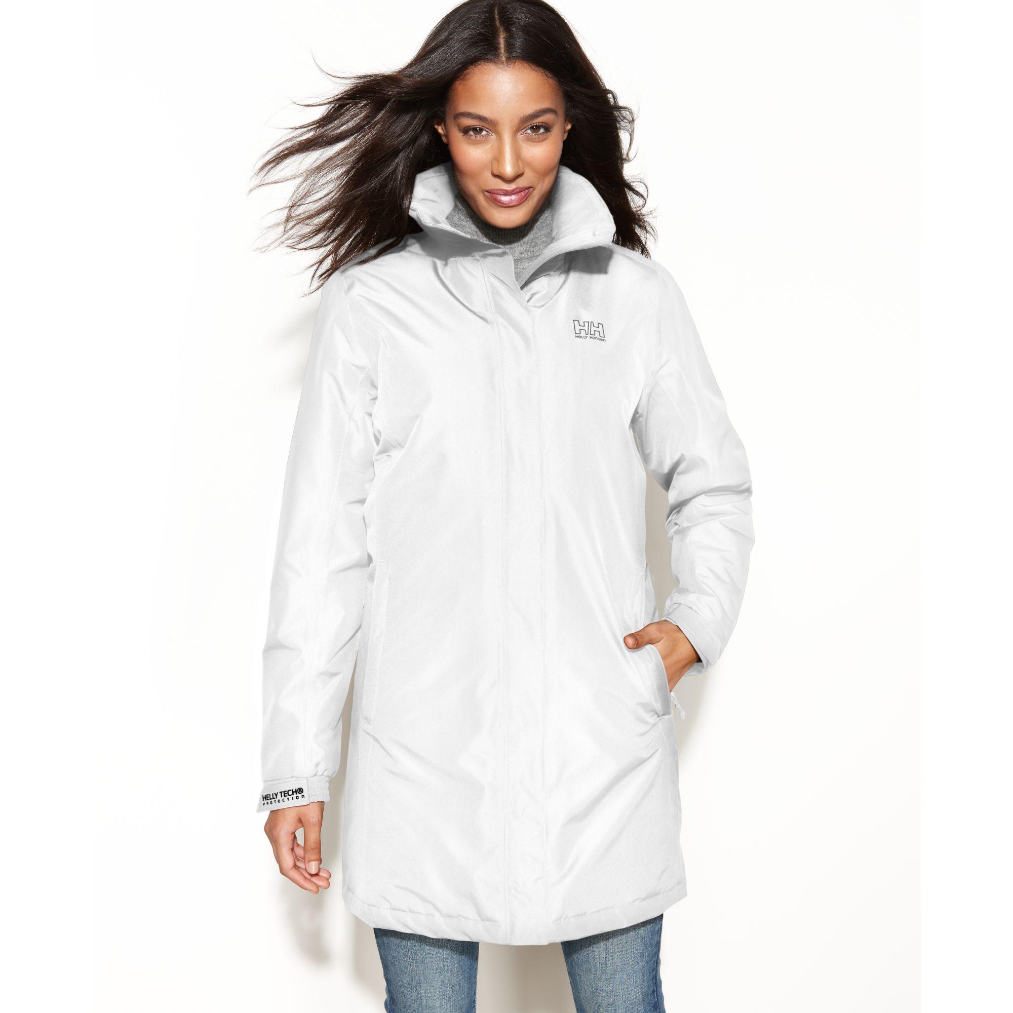 Lyst Helly Hansen Long Aden Hooded Raincoat In White