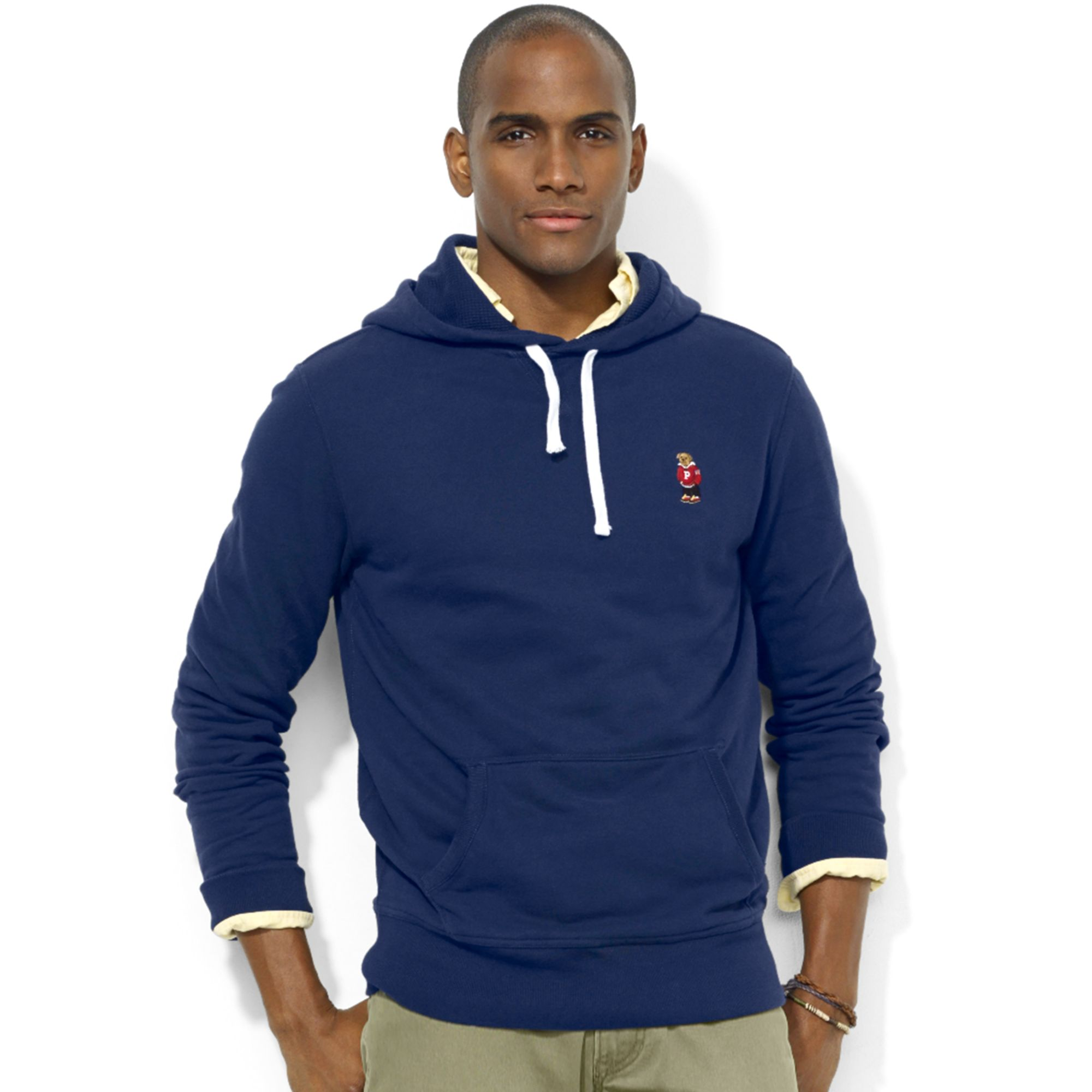 788200089 Ralph Lauren Polo Bear Fleece Pullover Hoodie in Blue for Men - Lyst