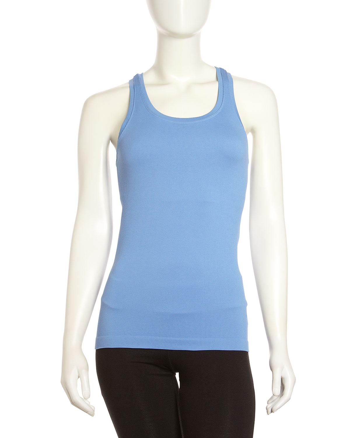 c2845352fd0a7 Lyst - Spanx Ribbed Racerback Tank Dynamic Blue in Blue