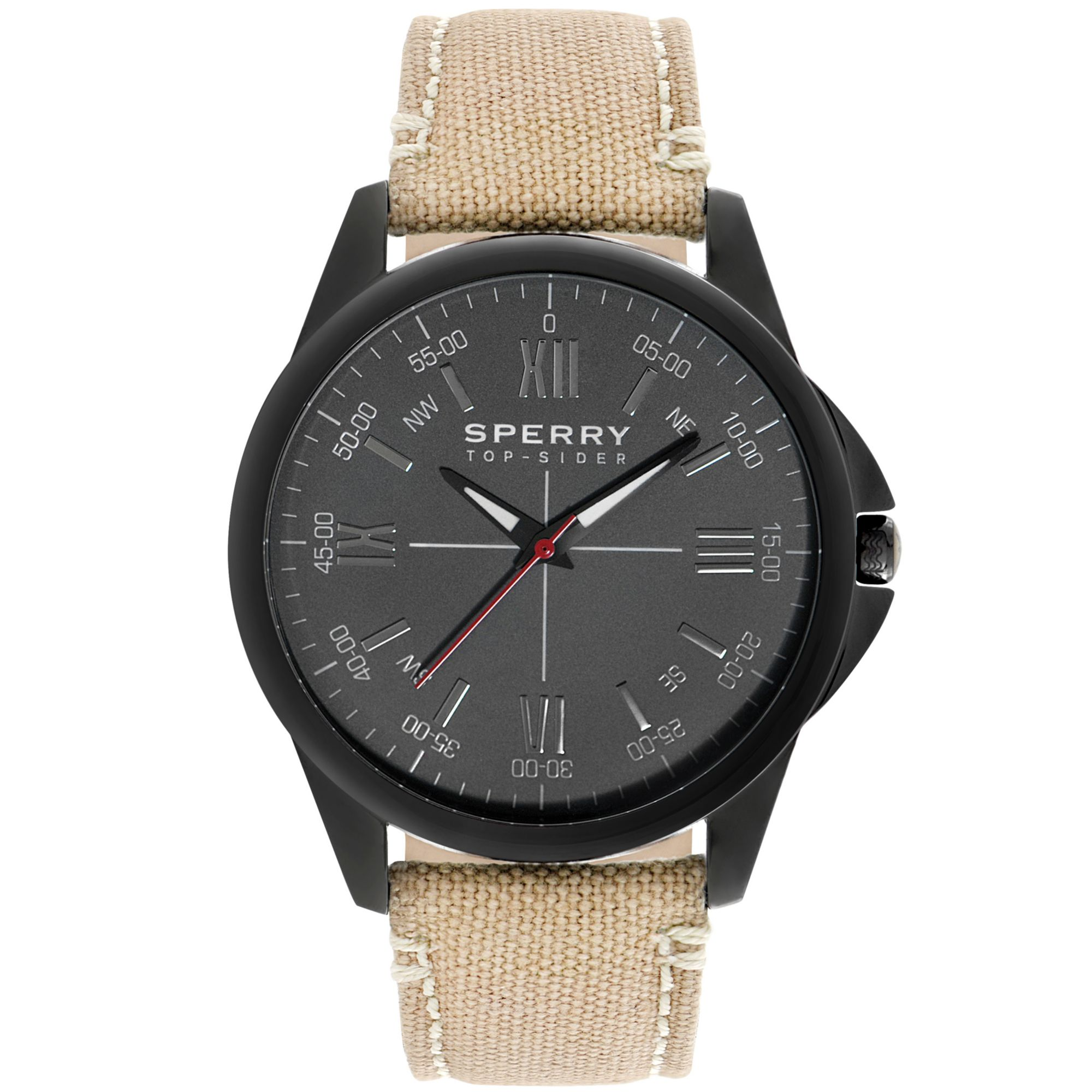 sperry top sider mens kinney taupe canvas 44mm in