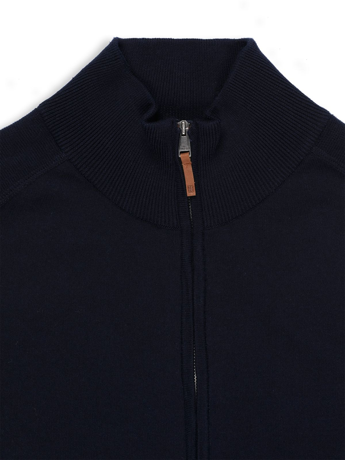 Ben sherman Funnel Neck Zip Through Cardigan in Blue for Men | Lyst