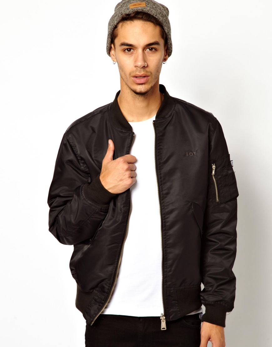 Boy London Reversible Ma1 Bomber Jacket in Black for Men ...