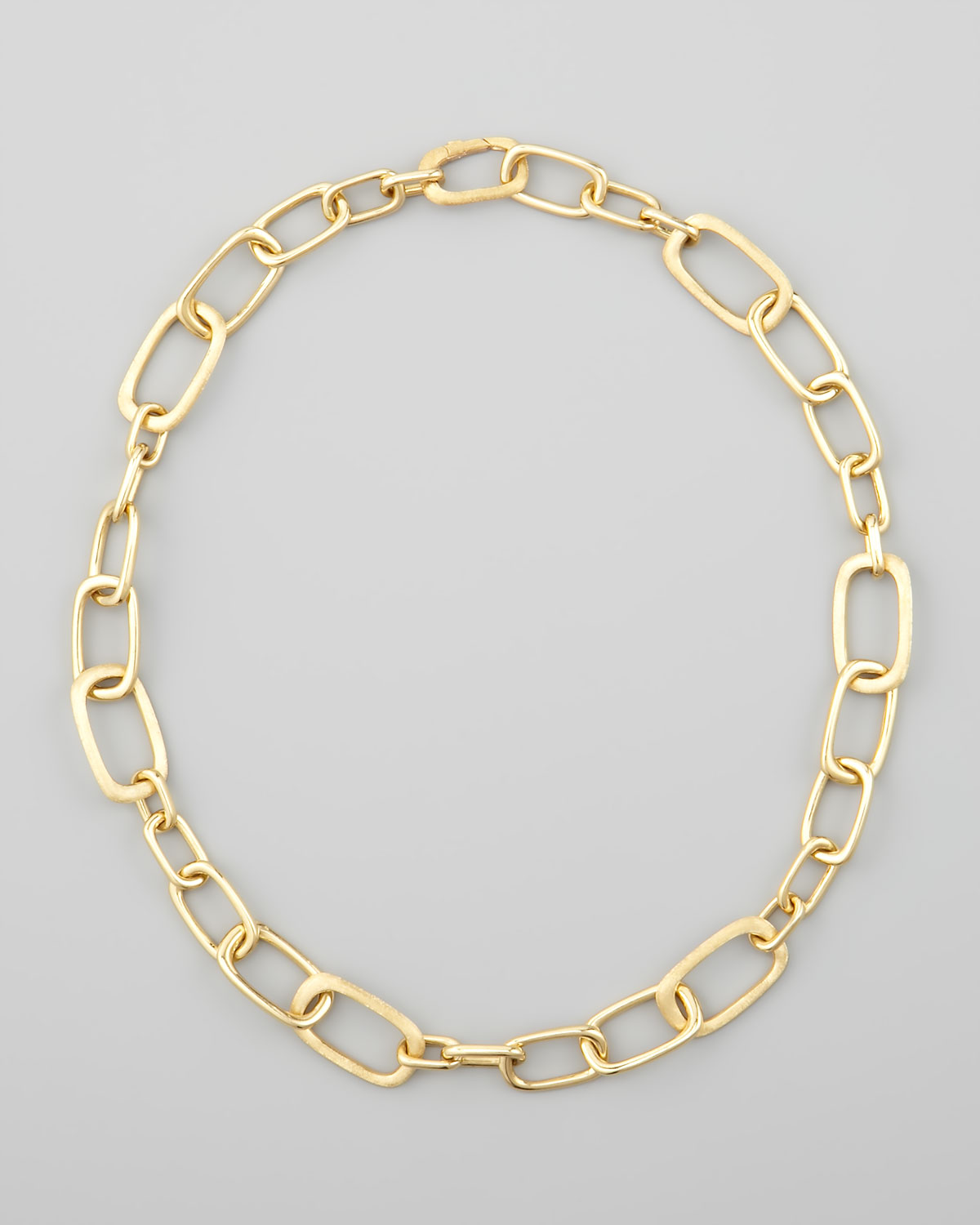 marco bicego murano 18k yellow gold large link necklace in