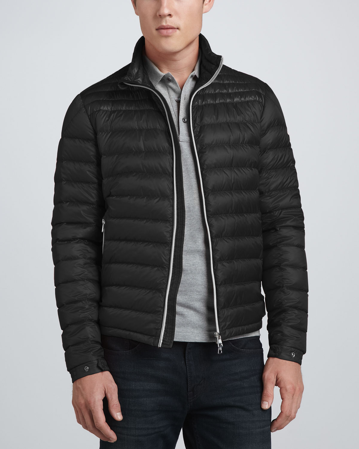 Moncler Acorus Lightweight Puffer Jacket in Black for Men | Lyst