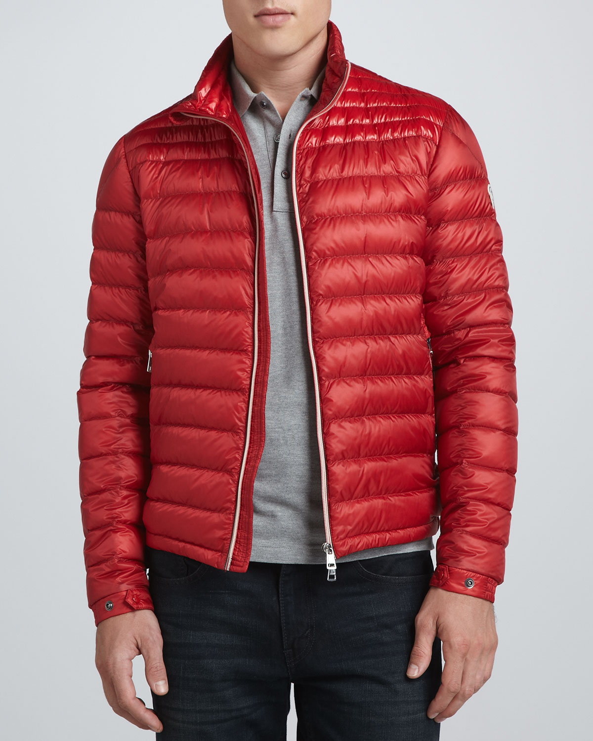 Moncler Acorus Lightweight Puffer Jacket In Red For Men Lyst