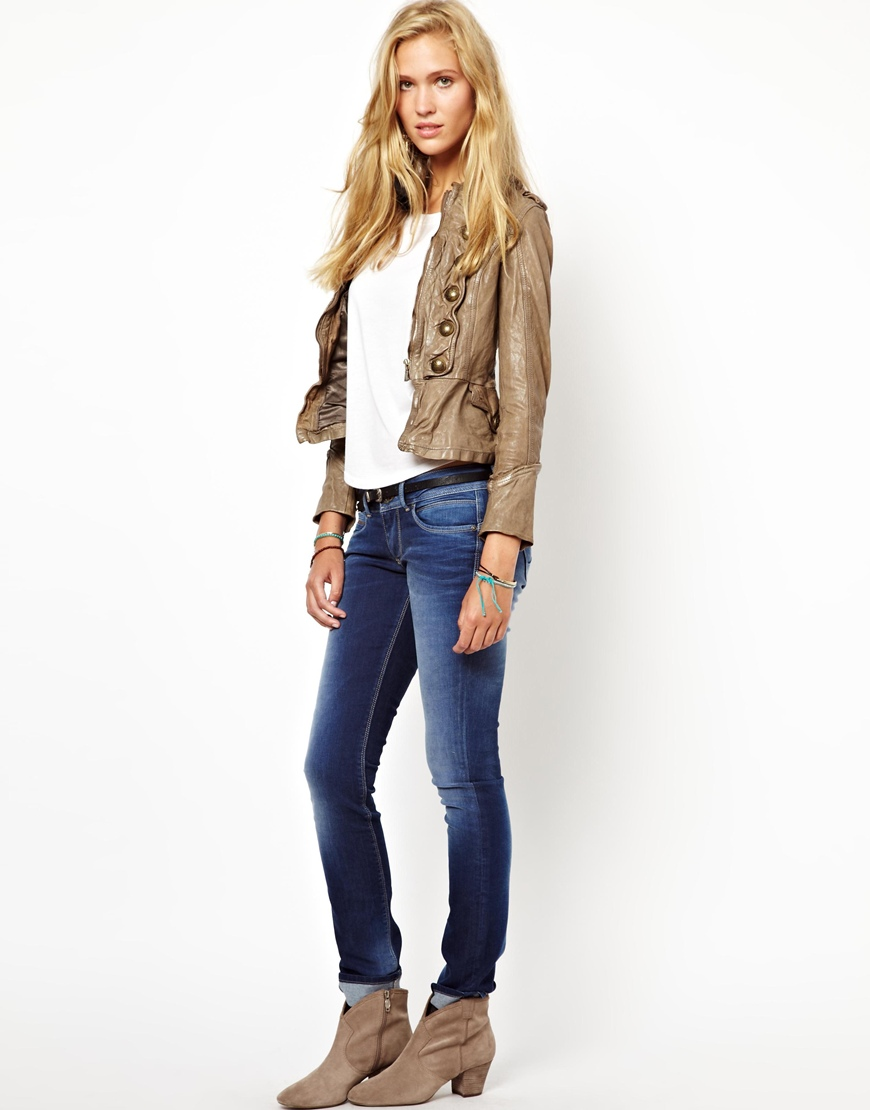 Taupe Leather Jacket Womens | Jackets Review