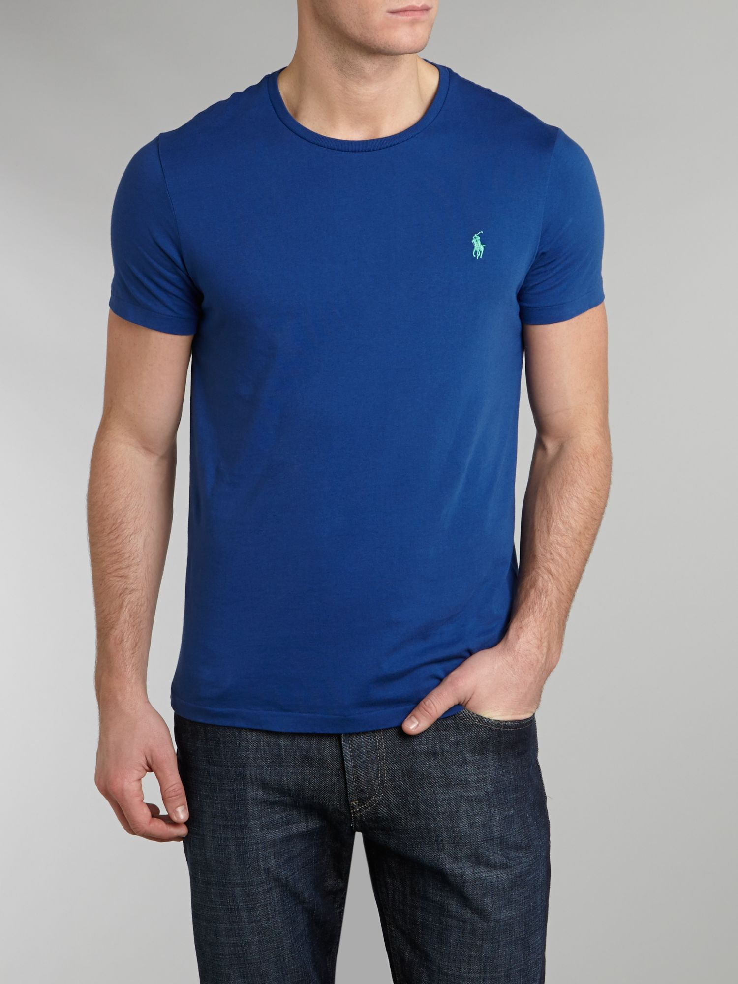 Lyst polo ralph lauren classic custom fit crew neck for Polo custom fit t shirts