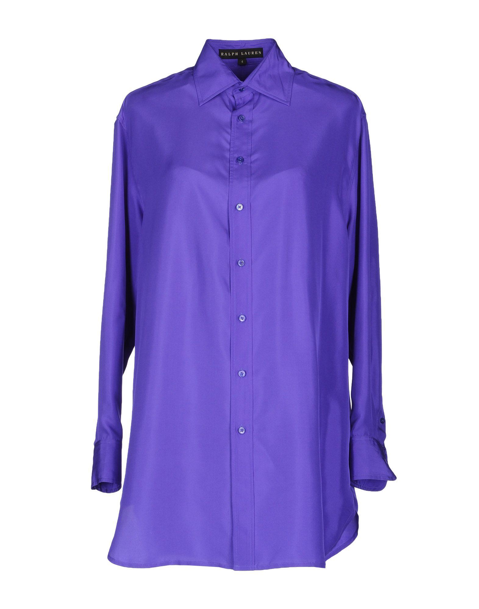 Ralph lauren black label long sleeve shirt in purple lyst for Black ralph lauren shirt purple horse