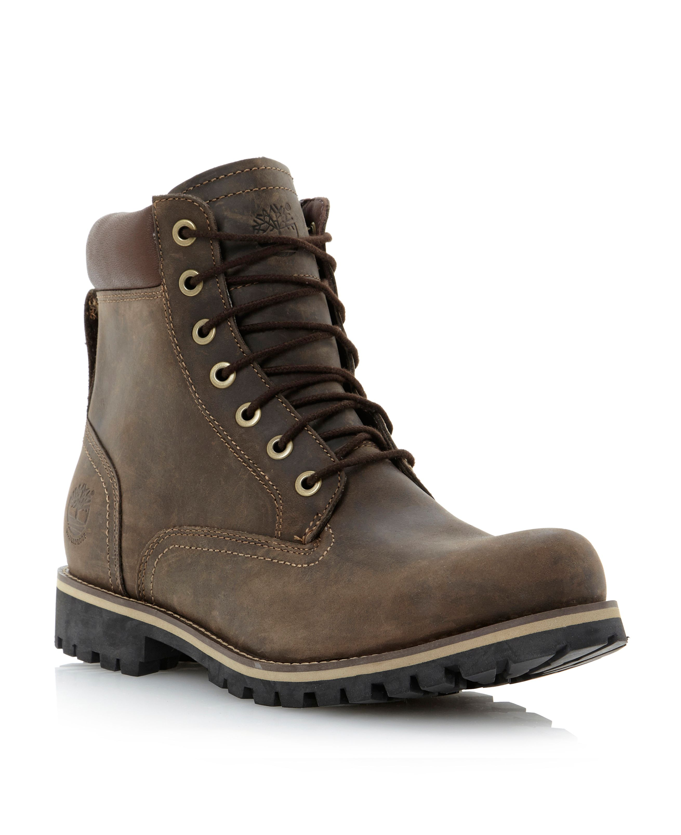 Timberland Heavy Padded Collar Boot in Brown for Men (Dark ...