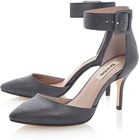 28fbd7bc96 Topshop Decanter Court Shoes in Gray (PEWTER)   Lyst