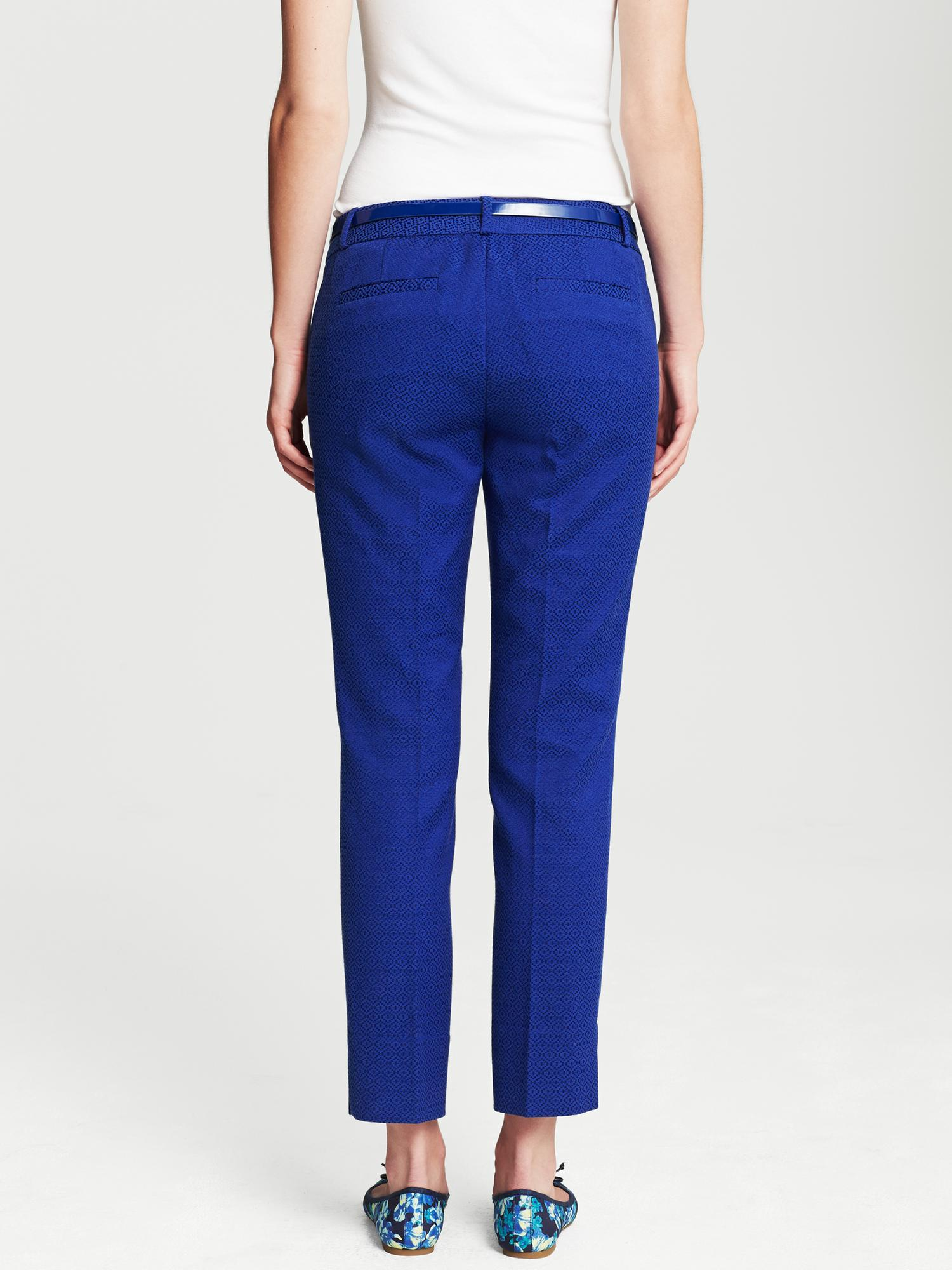Banana Republic Camdenfit Cobalt Skinny Ankle Pant In Blue