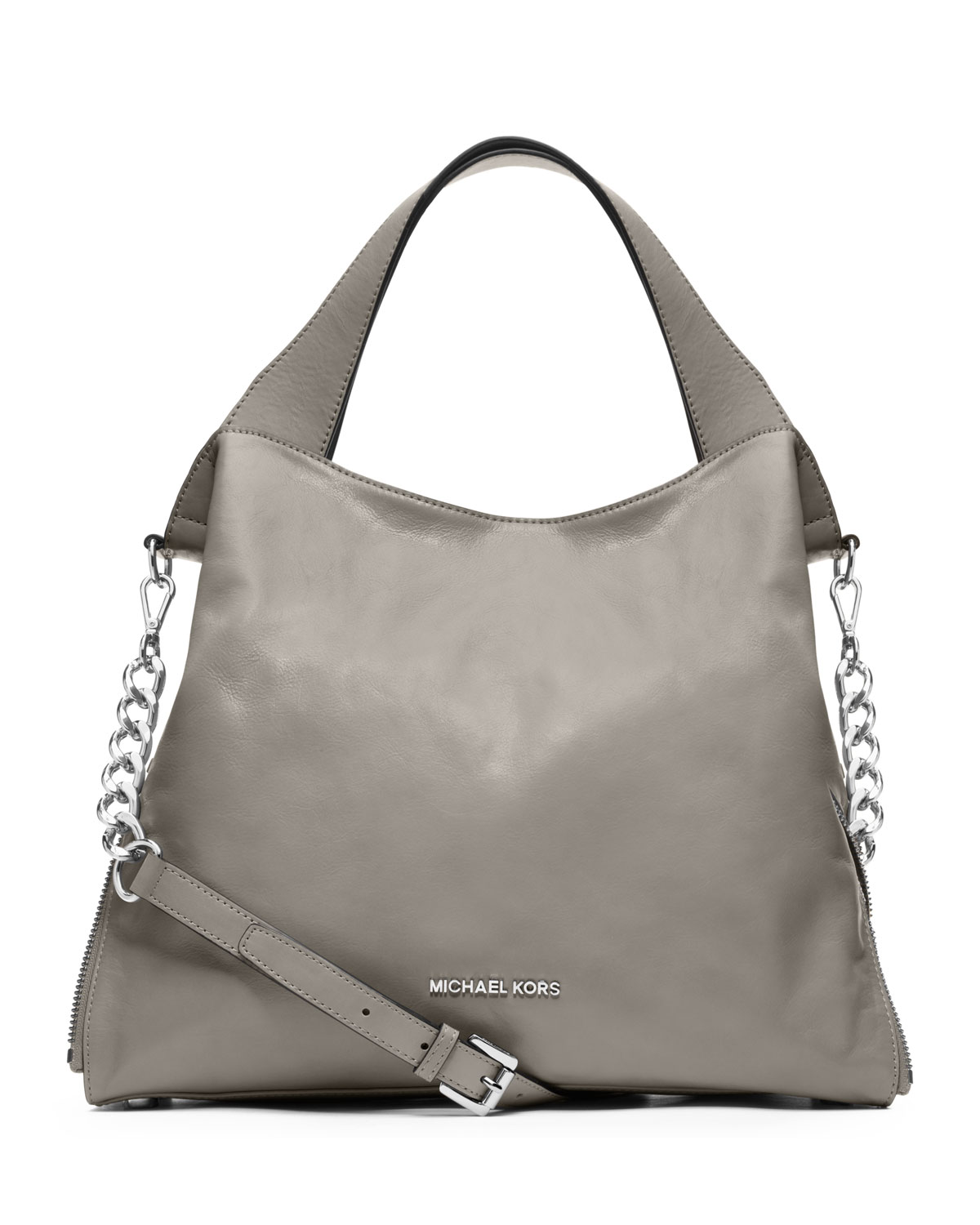 e0f9b401bc656 Lyst - Michael Kors Michael Large Devon Shoulder Tote in Gray