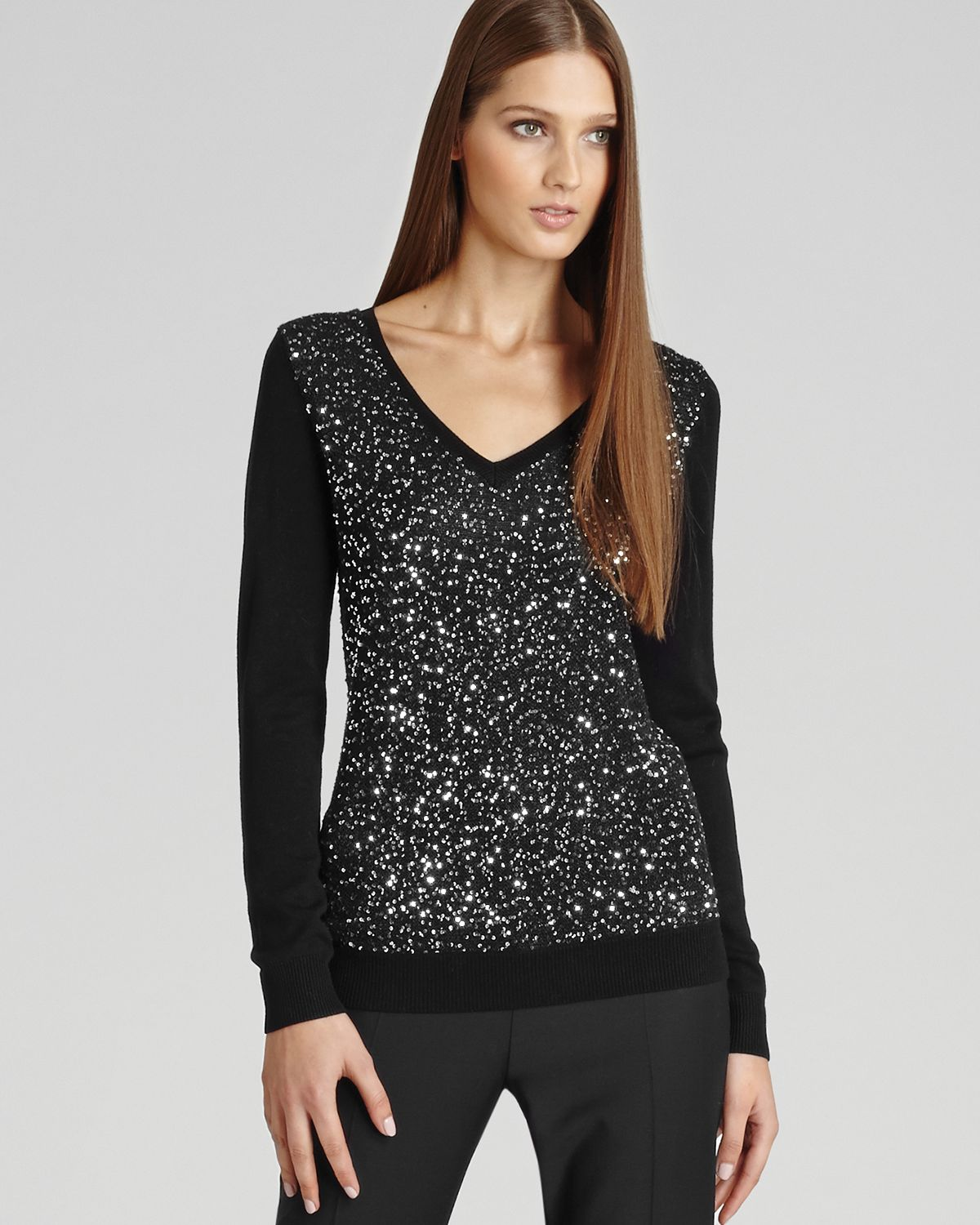 Shop sequined cardigan sweater at Neiman Marcus, where you will find free shipping on the latest in fashion from top designers. Available in Black, Gray, Pink, White. Imoga Fuzzy Yarn Turtleneck Sweater w/ Sequin Love Patch, Size Details Imoga fuzzy yarn sweater with sequin