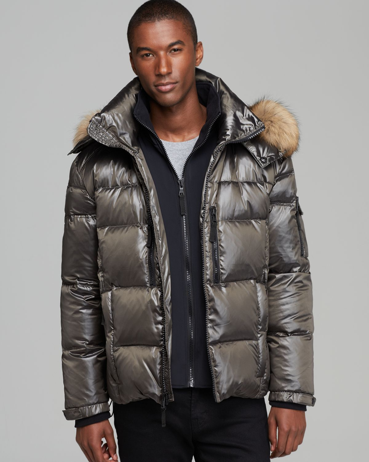 Lyst - Sam. Mountain Quilted Down Jacket in Natural for Men : quilted down jacket mens - Adamdwight.com
