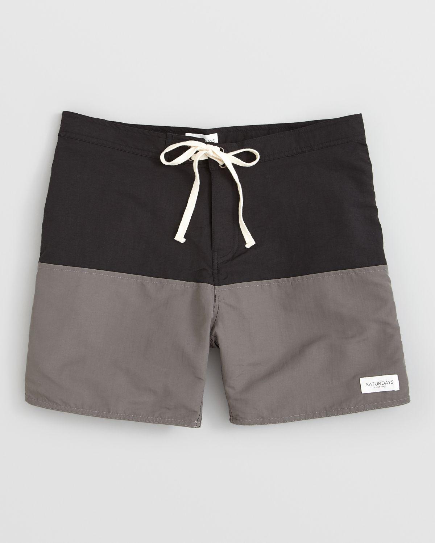 9fb2c4f694 Saturdays Nyc Ennis Color Block Boardshorts in Gray for Men - Lyst
