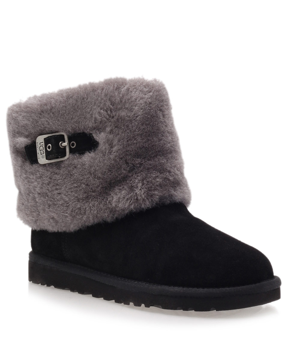 Lyst Ugg Black Ellee Suede Ankle Boots In Black
