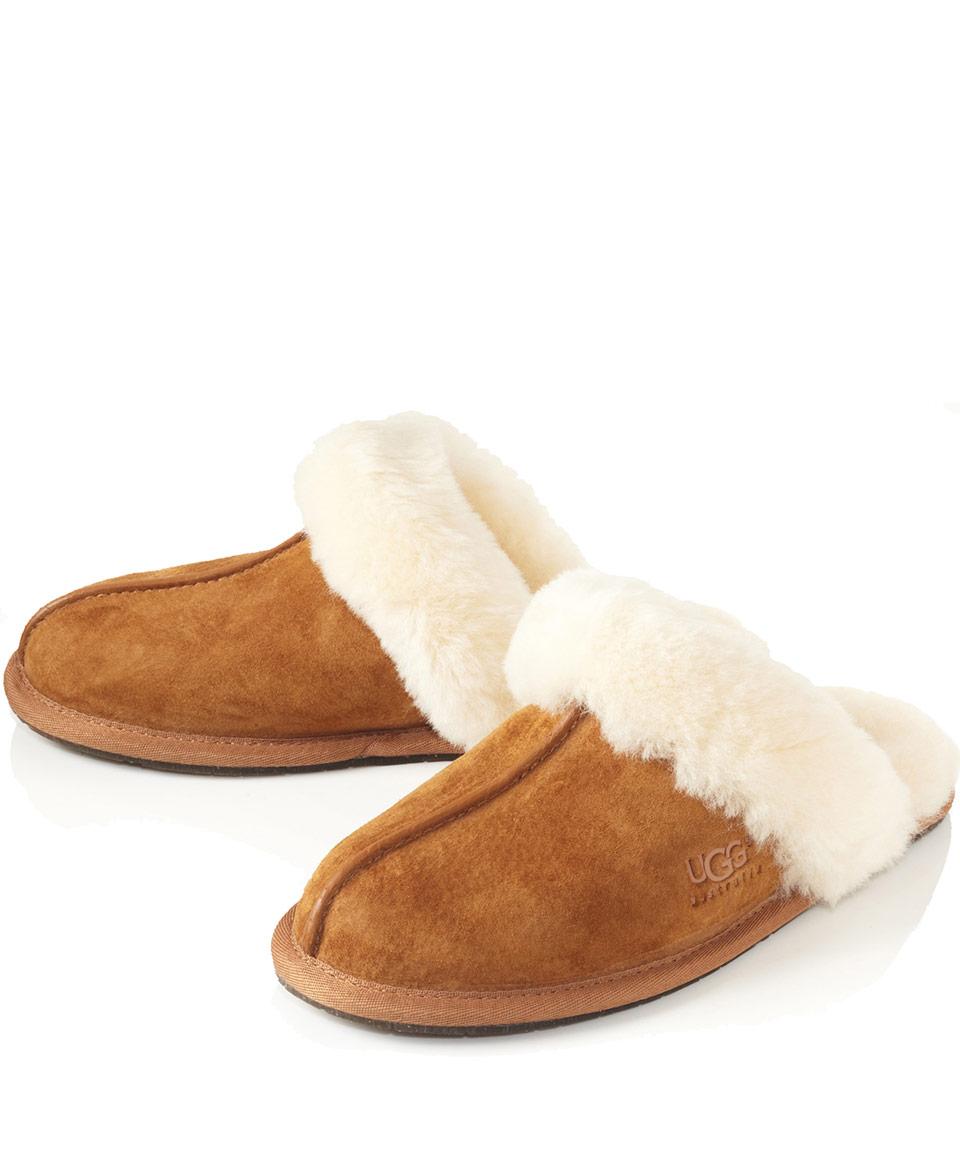Ugg Chestnut Schuffette Ii Sheepskin Slippers In Brown Lyst