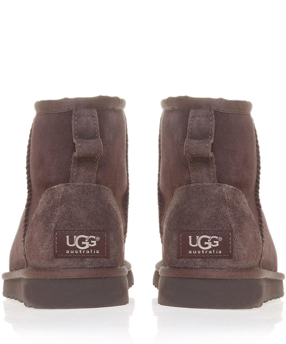 6492047e15c UGG Brown Chocolate Classic Mini Sheepskin Boots