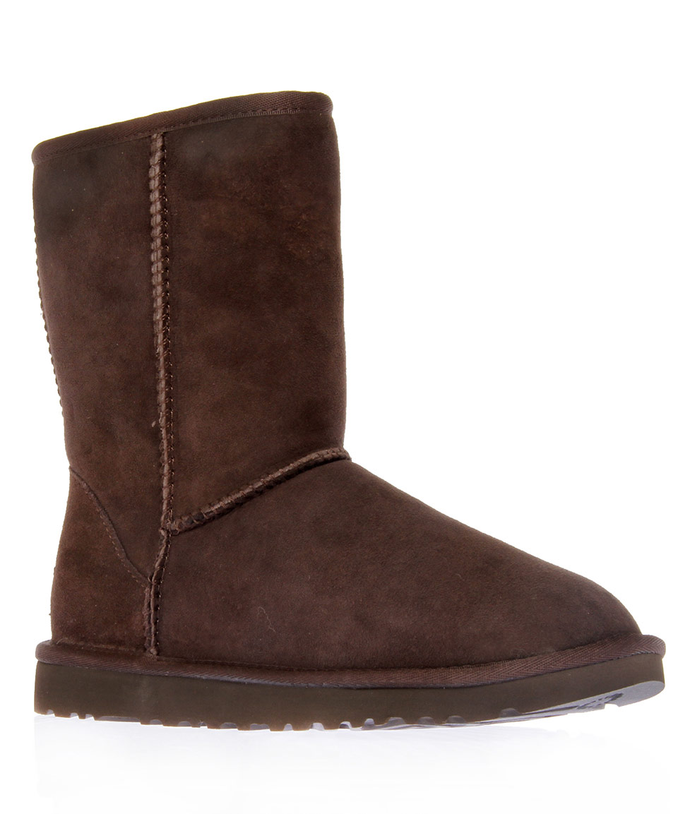 ugg chocolate classic sheepskin boots in brown lyst