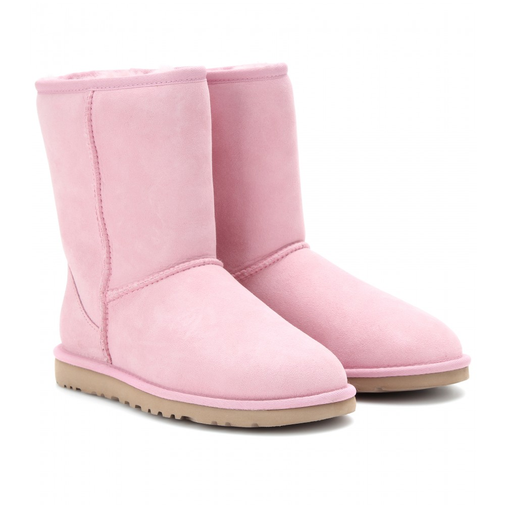 Ugg Classic Short Boots In Mauve Pink Lyst