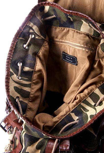21men Camo Backpack In Green For Men Olive Camel Lyst