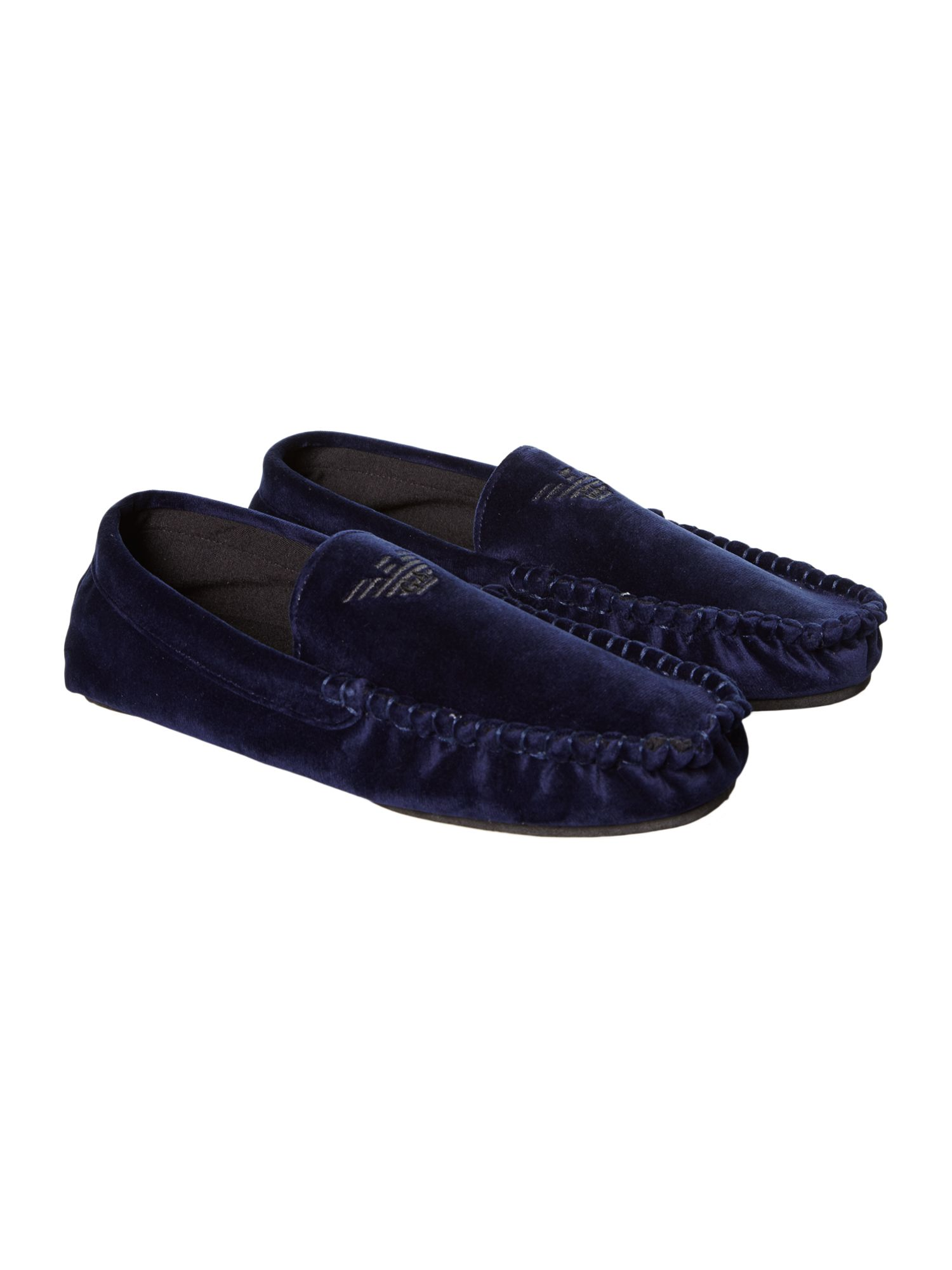 Armani Jeans Logo Shoe Slippers In Blue For Men Navy Lyst