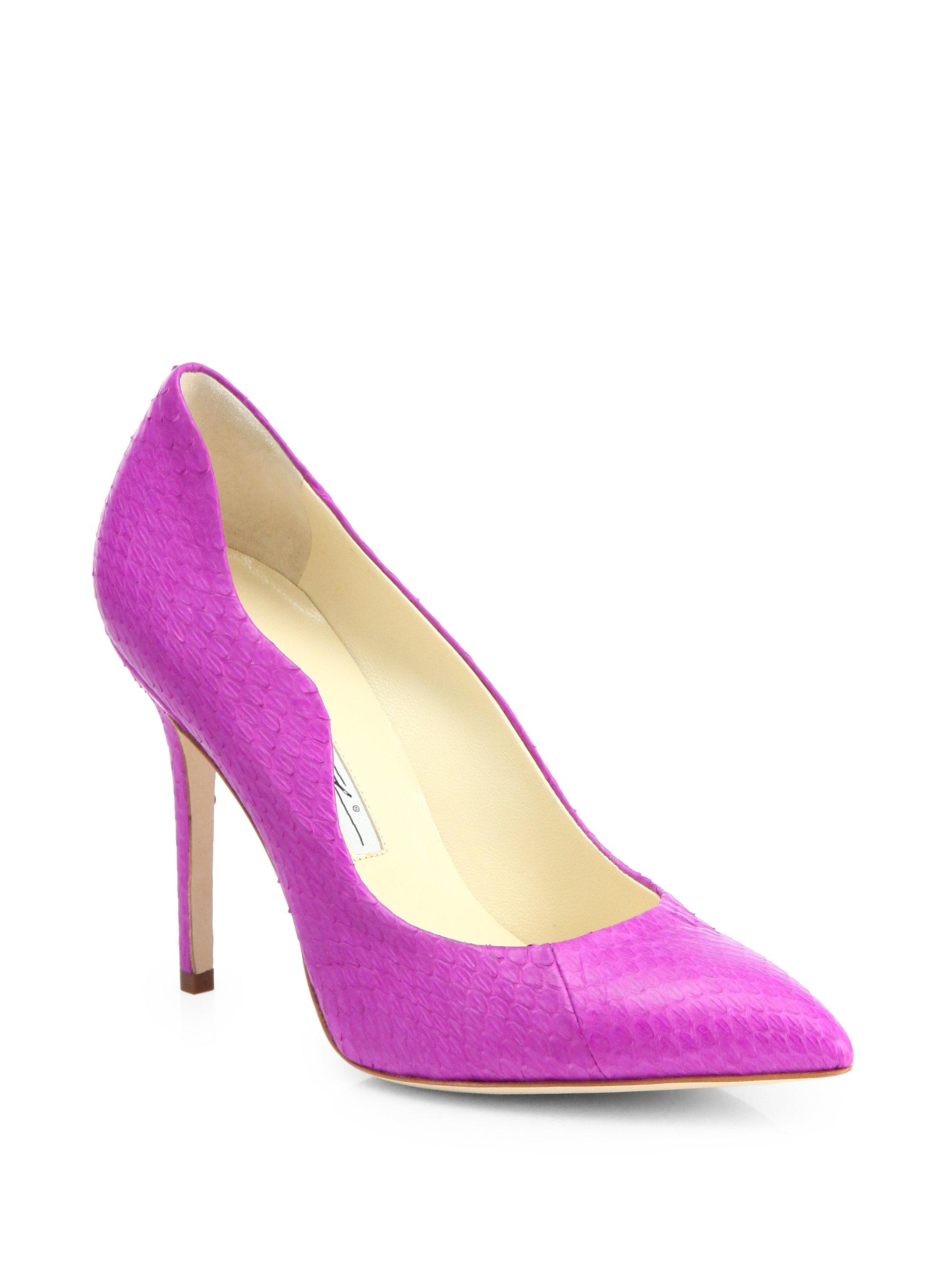 Purple Snakeskin Heels