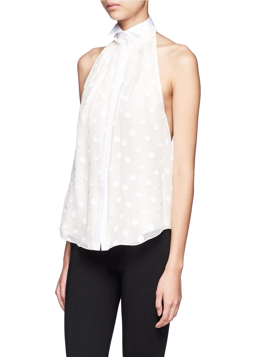 White Tuxedo Shirt For Women