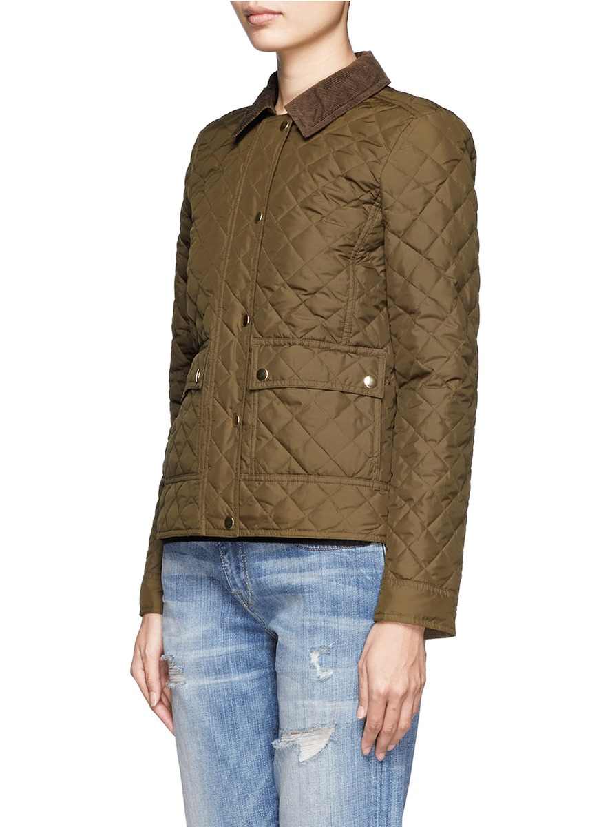 J Crew Quilted Tack Jacket In Green Lyst