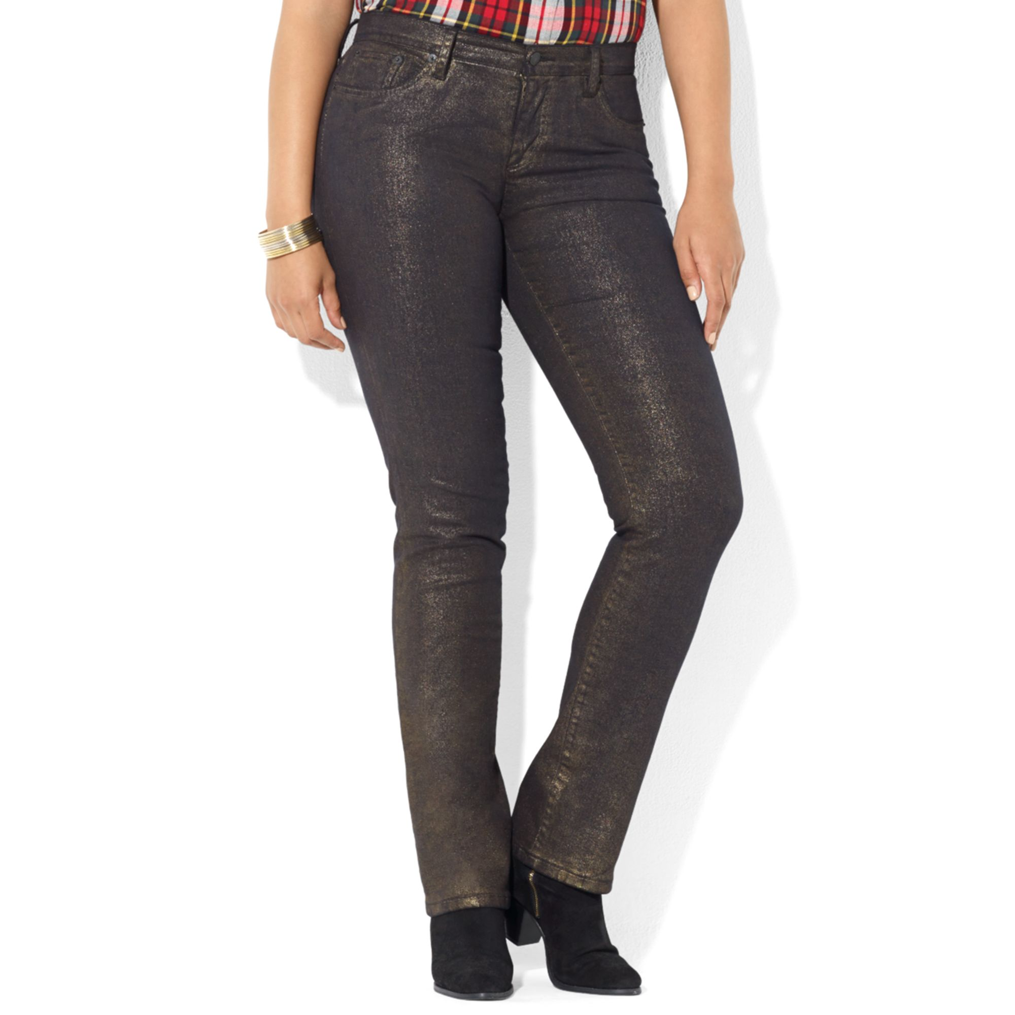 Lauren by ralph lauren Lauren Jeans Co Plus Size Jeans Metallic ...