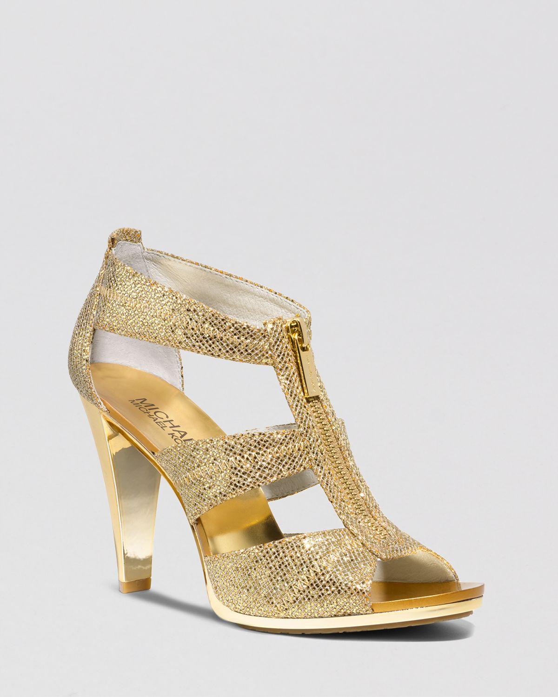 michael kors gold high heels gold high heel sandals. Black Bedroom Furniture Sets. Home Design Ideas