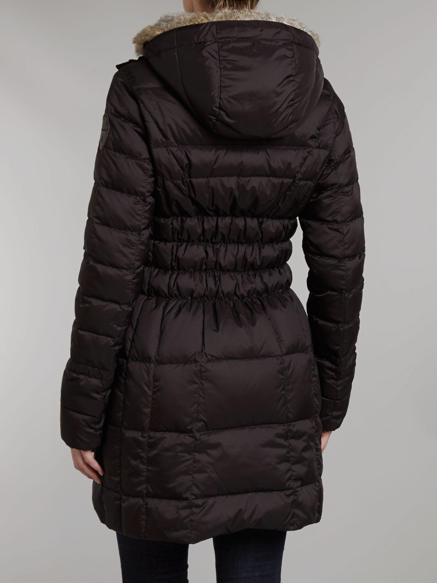 Napapijri Alton Fake Fur Coat In Black Lyst