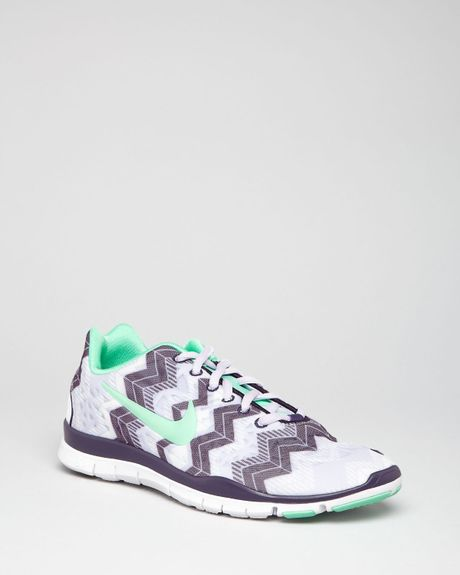 Nike Lace Up Sneakers Womens Free Tr Fit 3 in White (violet) | Lyst