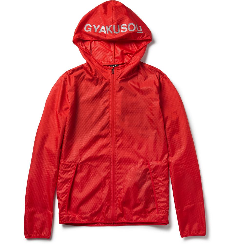 0c90ea1d33dc Lyst - Nike Gyakusou Lightweight Hooded Running Jacket in Red for Men