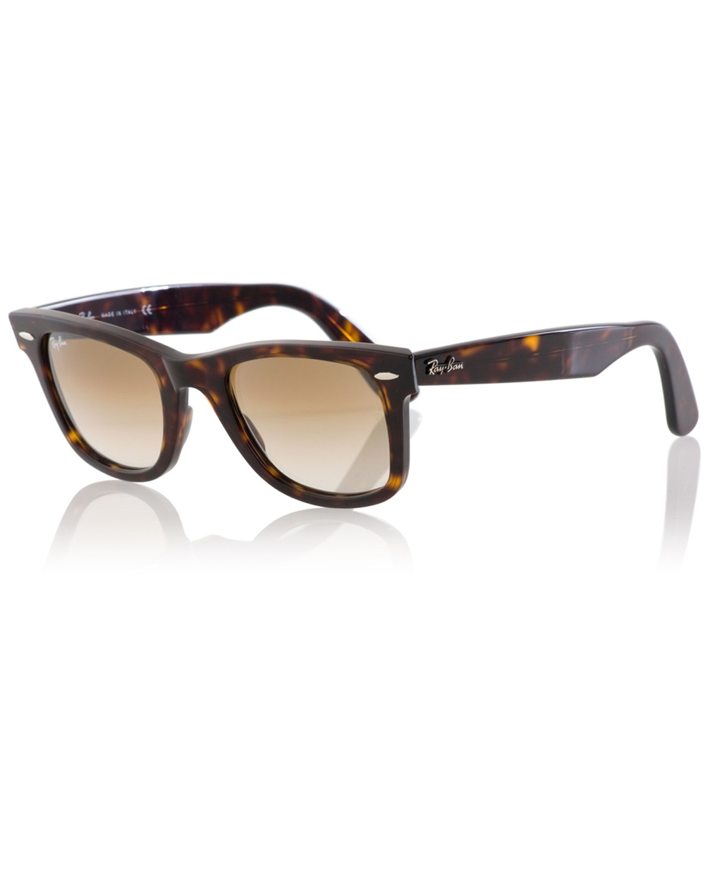 96437cc4e9 ... promo code lyst ray ban wayfarer sunglasses in brown for men 6c1aa ed371