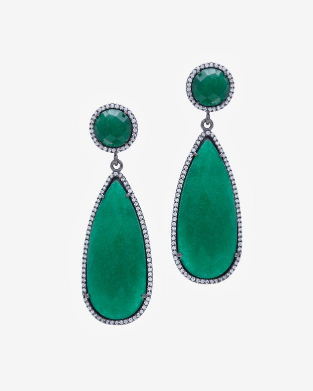 Sole Society Womens Le Gala Velvet Statement Earrings Emerald One Size From Sole Society UpuHoyGU