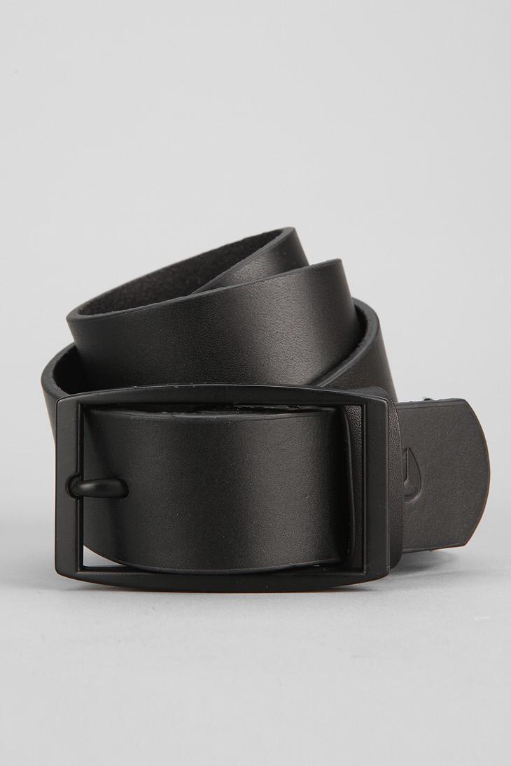 outfitters nixon sloan leather belt in black lyst