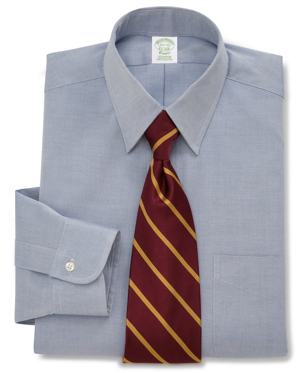 Brooks brothers milano fit forward point collar dress for Brooks brothers dress shirt fit