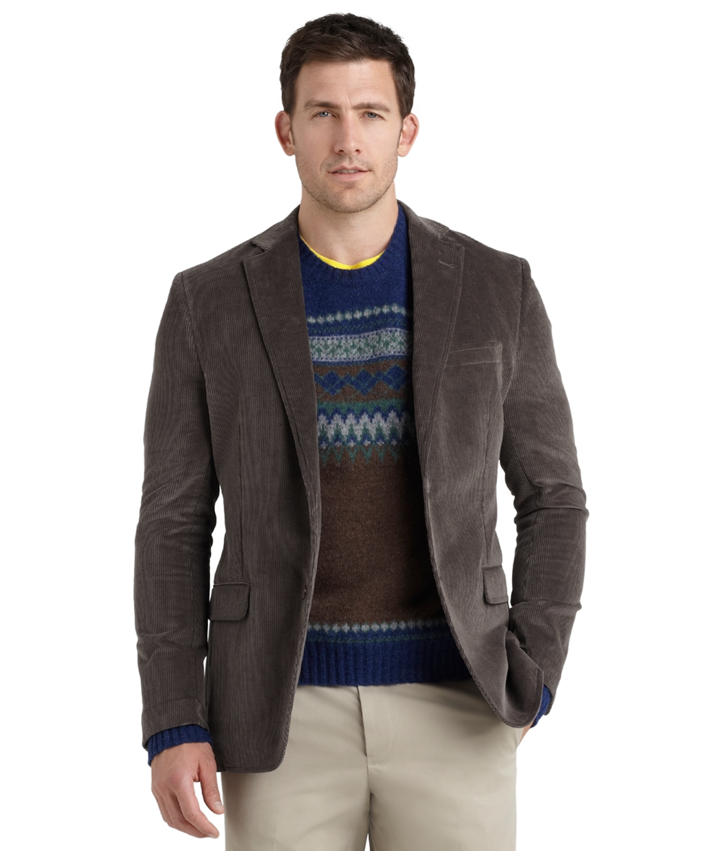 Brooks brothers Fitzgerald Fit Relaxed Corduroy Sport Coat in Gray ...