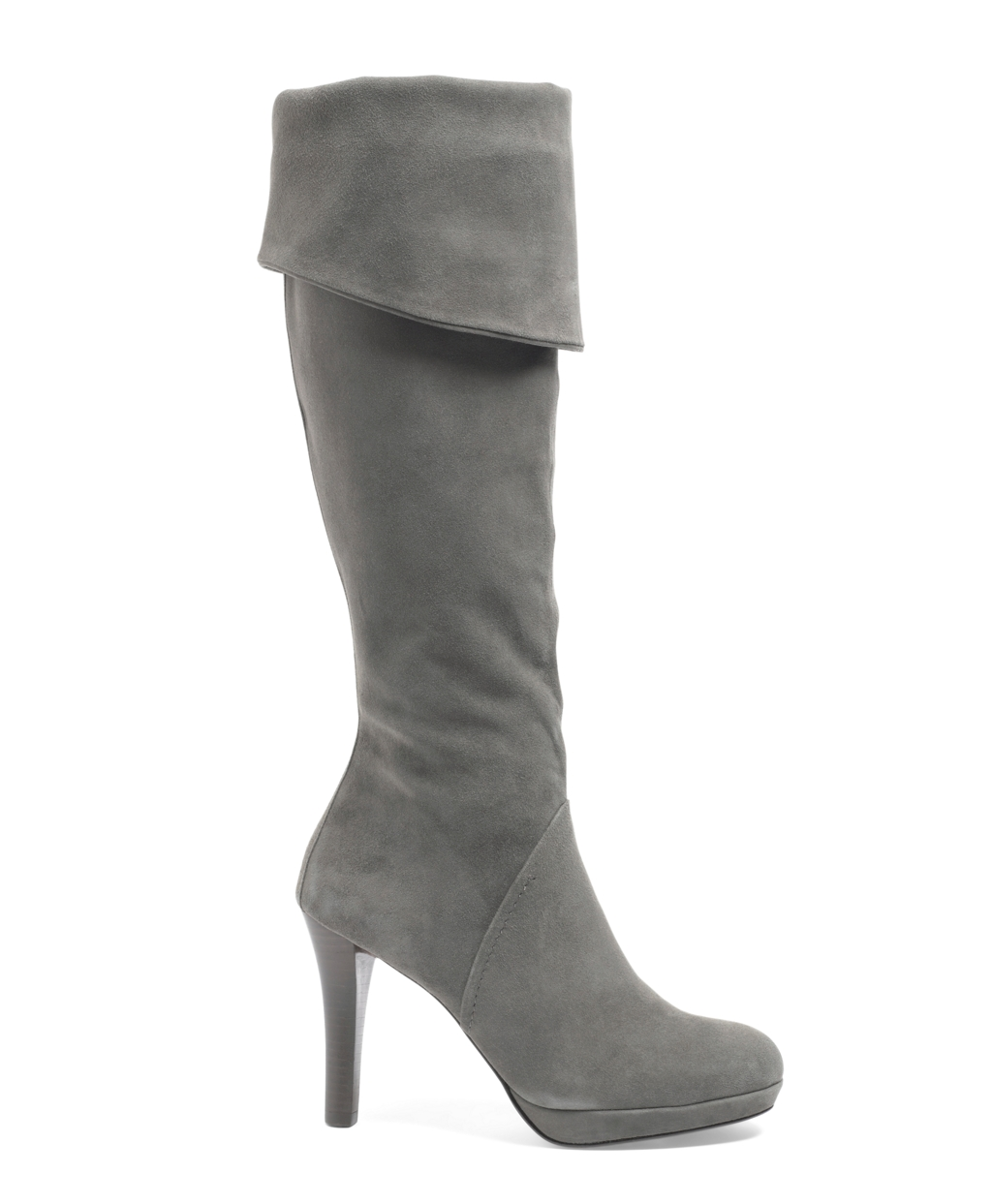 brothers knee high platform boots in gray lyst