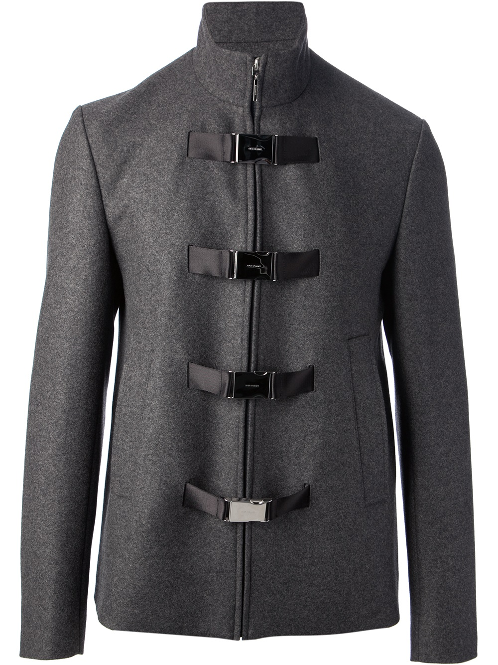 Dior homme Military Jacket in Gray for Men | Lyst
