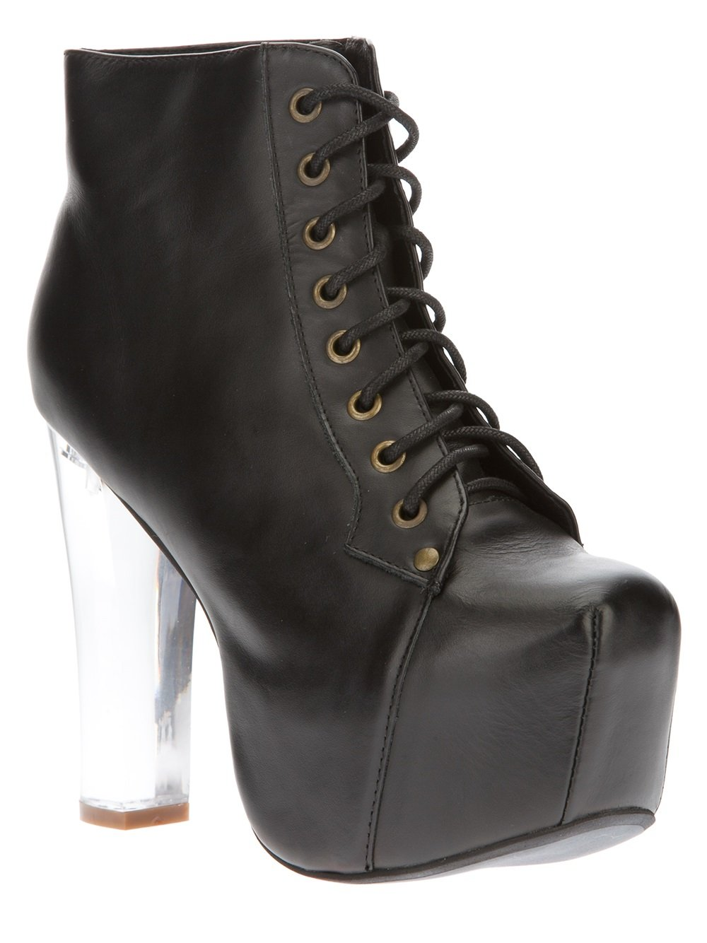 jeffrey campbell lita light laceup boot in black lyst. Black Bedroom Furniture Sets. Home Design Ideas