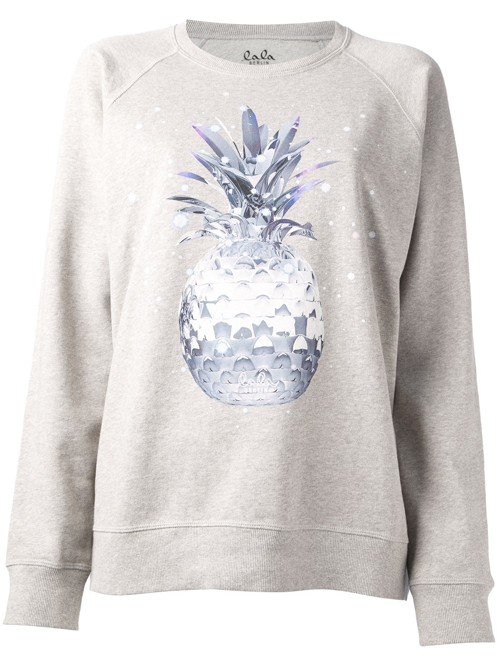 lyst lala berlin space pineapple sweatshirt in gray. Black Bedroom Furniture Sets. Home Design Ideas