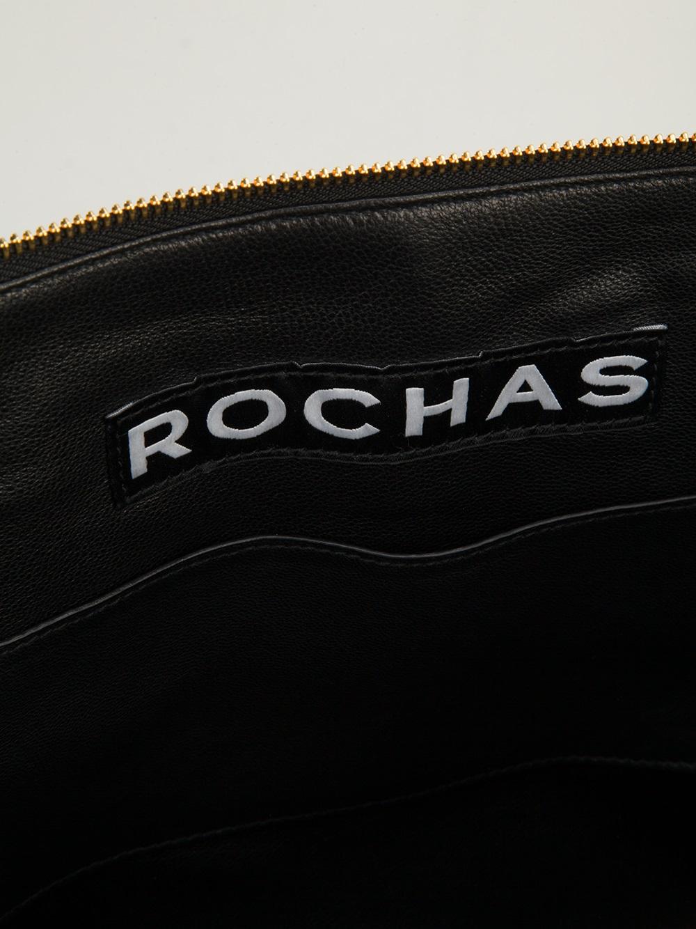 Rochas Leti Tote in Black