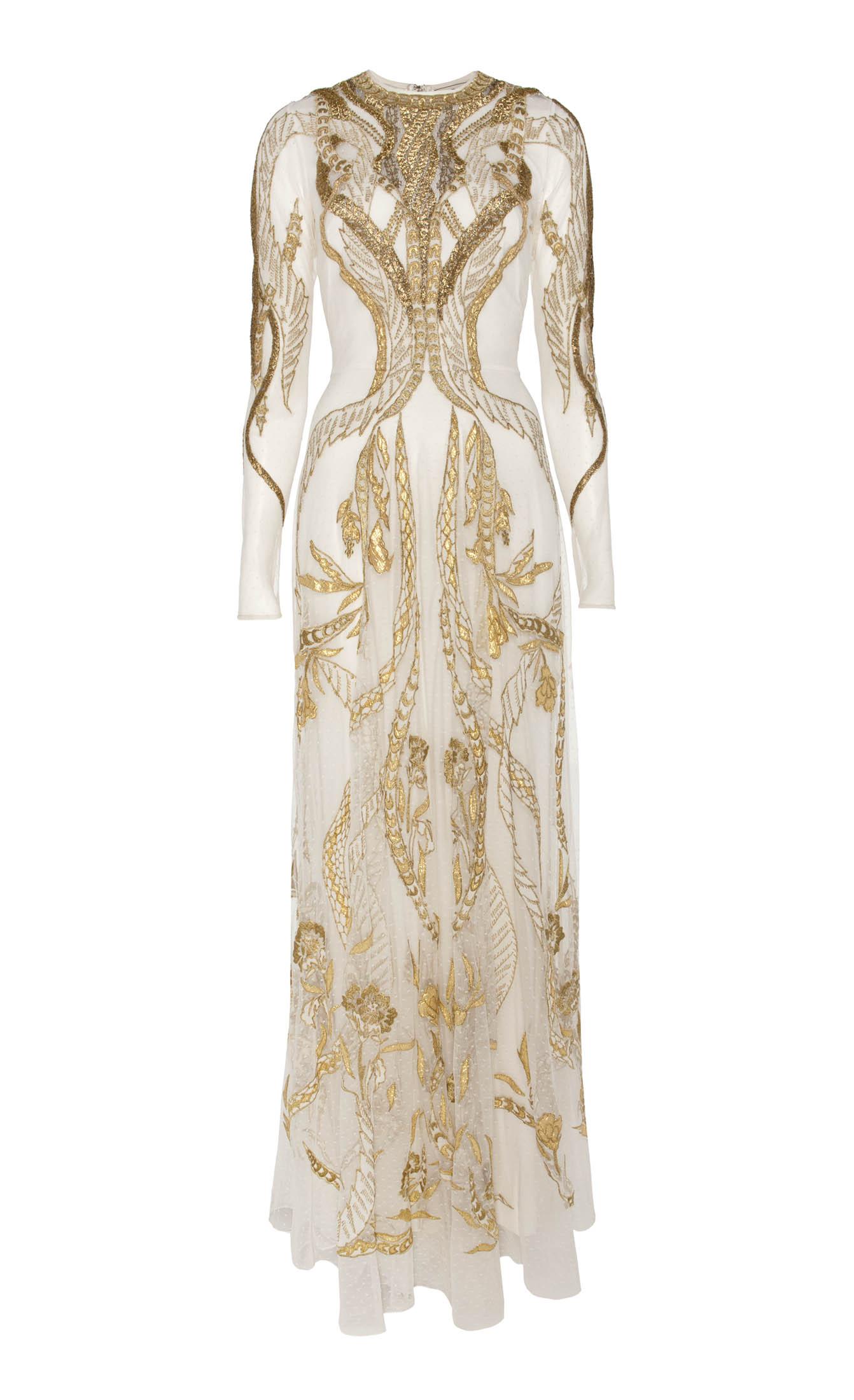 Temperley London Long Aya Show Dress In Metallic Lyst