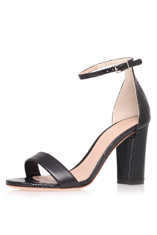 dc52e37f5bb TOPSHOP Isabella Block Heel Sandals By Kurt Geiger in Black - Lyst