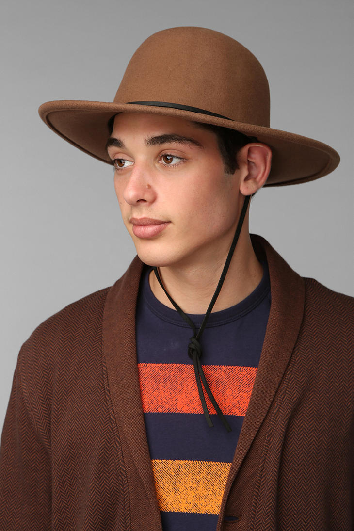 4001b417d Urban Outfitters Brown Brixton Tiller Wide Brim Top Hat for men